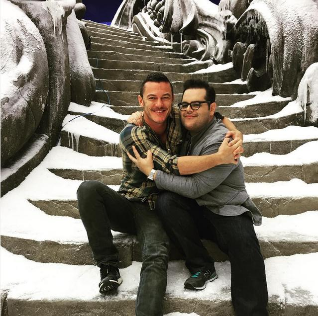 Josh-Gad-Luke-Evans-Beauty-and-the-Beast-set-July-2015